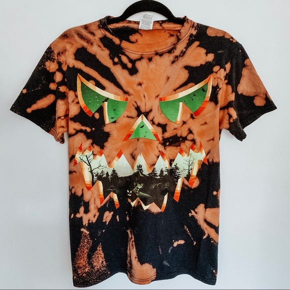 Halloween Pumpkin American Flag-1 Mens Short Sleeve Polo Shirt Regular Blouse Sportswear